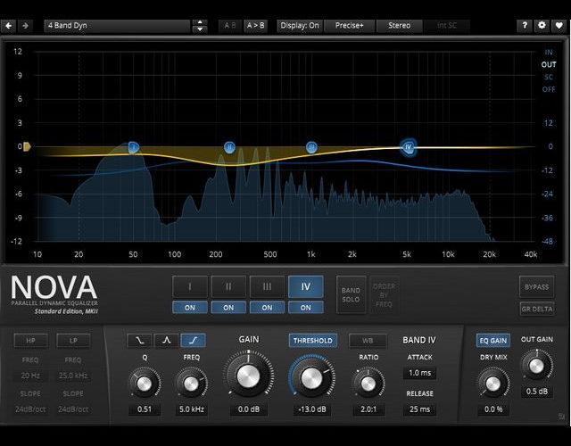 【フリー】4バンドダイナミックイコライザー「TDR Nova」