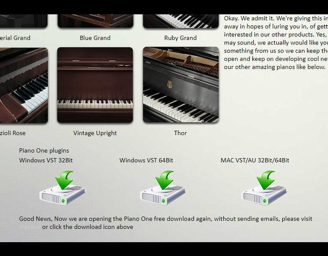 【定番】フリーのピアノVSTプラグイン「Piano One」