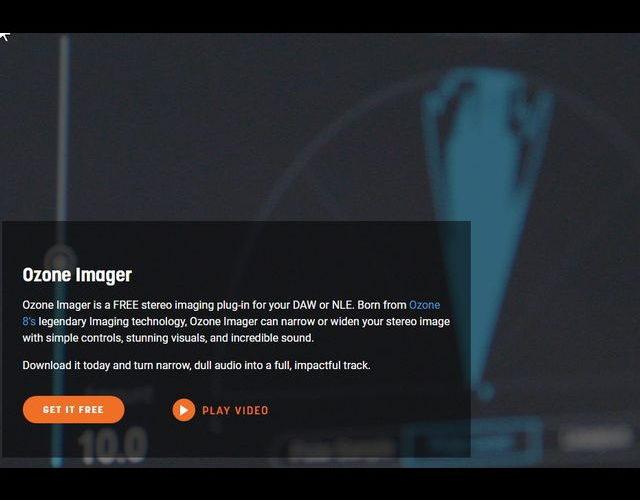 無料でステレオ効果を調整、iZotopeのステレオイメージャー「Ozone Imager」