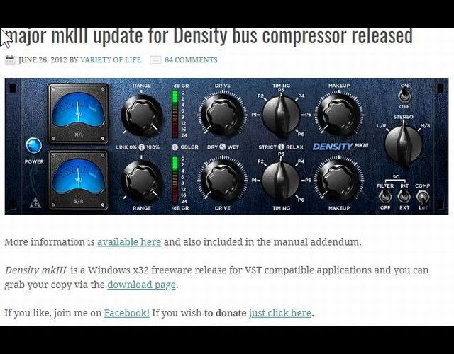 M/S処理も可能なフリーのコンプレッサー「Density mkⅢ」