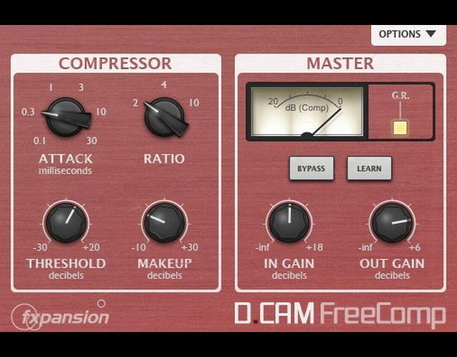 フリーのオーソドックスなコンプレッサー「DCAM Free Comp」