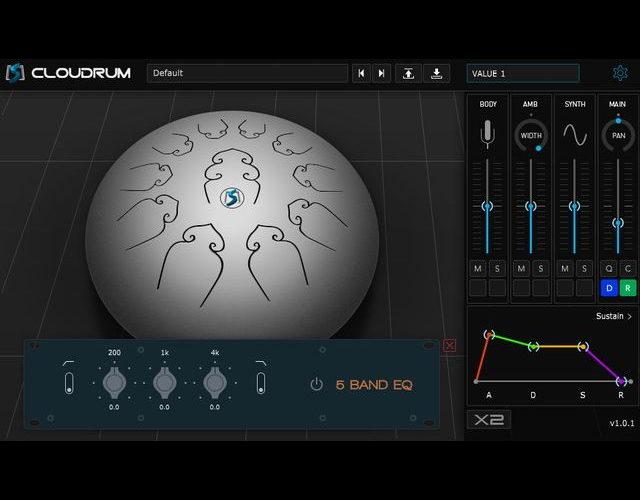 無料スティールタングドラム音源「Ample Percussion Cloudrum」