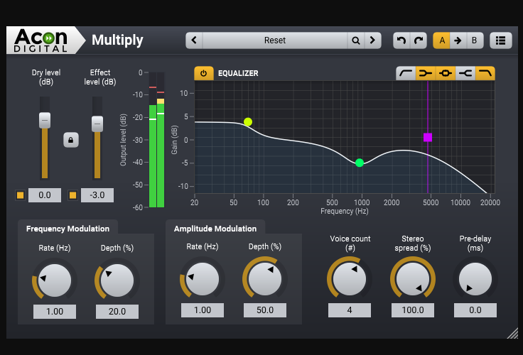 【無料】音に広がりを持たせるコーラスプラグイン「Multiply」by Acon Digital