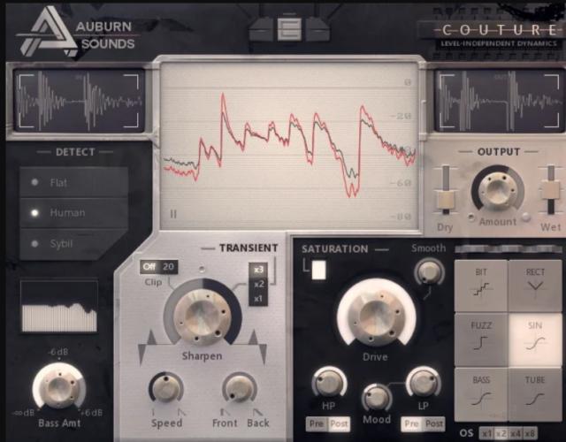 フリーミアムのダイナミクス調整用トランジェントシェイパー「Couture」 by Auburn Sounds