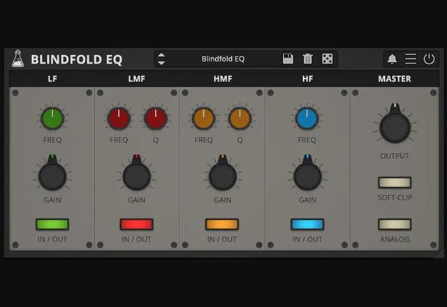 【無料】最大限に聴覚を活用するイコライザープラグイン「Blindfold EQ」