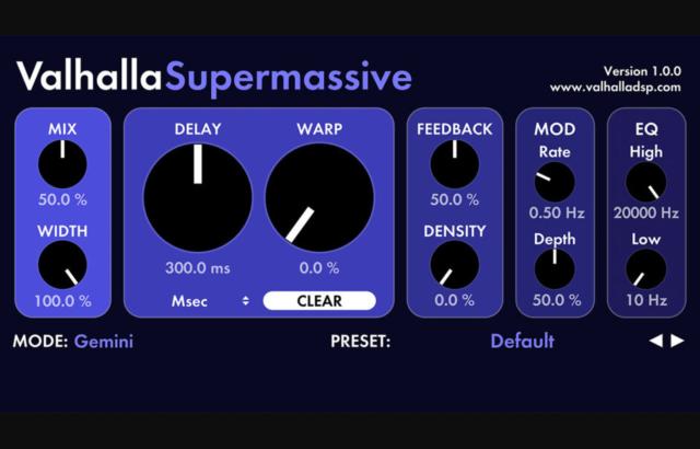Valhalla の幻想的なリバーブが無料!「Valhalla Supermassive」