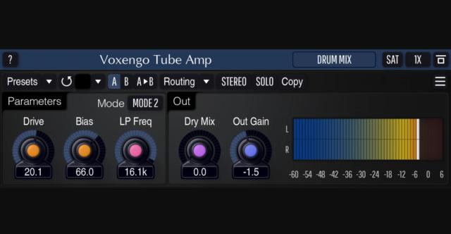 無料の真空管アンプシミュレータープラグイン「Voxengo Tube Amp」