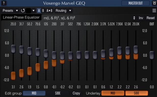 【無料】16バンドのグラフィック・イコライザー「Voxengo Marvel GEQ」