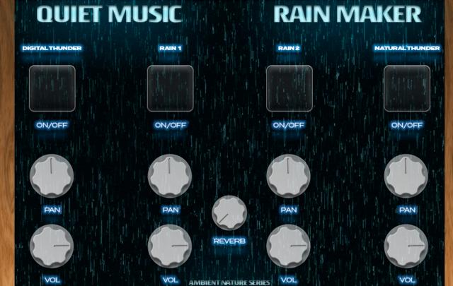 雨音を生成するフリープラグイン「Rain Maker」